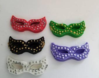 Fondant Masquerade Mask, Mardi Gras Masks, Cupcake Topper