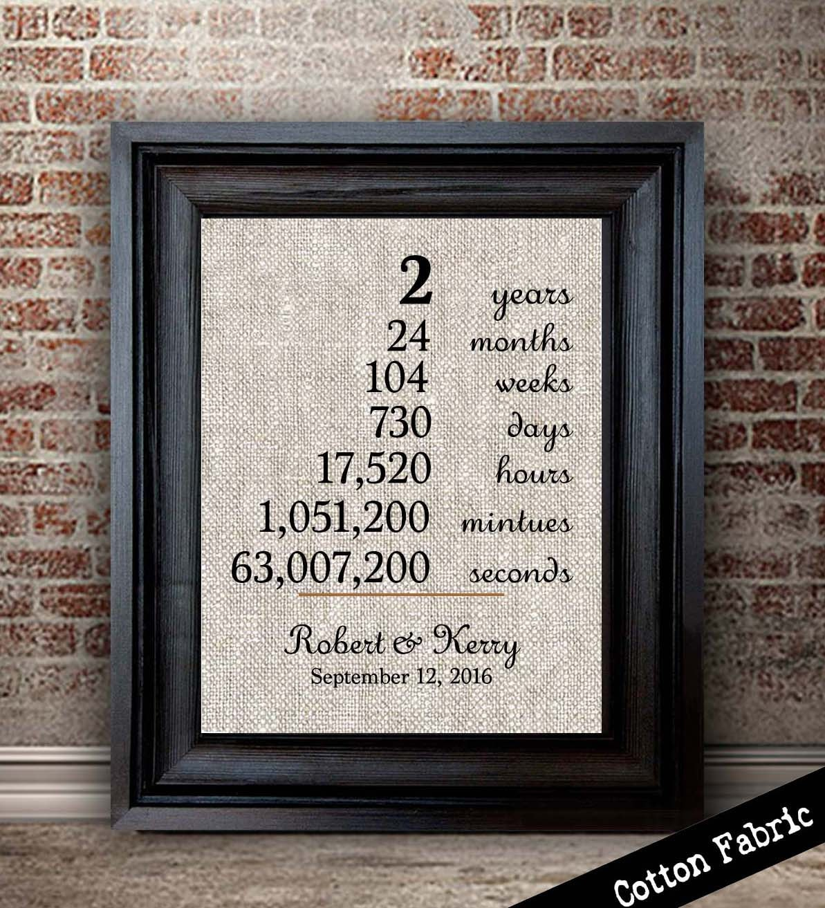 Cotton Wedding Gift: Cotton Anniversary Gift For Her Wedding Anniversary Print