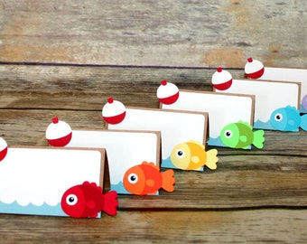 Fishing Place Cards / Fishing Food Labels