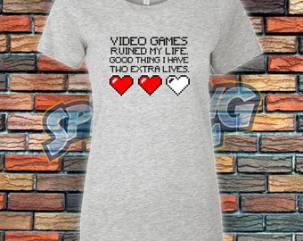 Two Extra Lives Ladies Tee