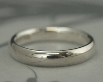 Comfort Fit Ring Sterling Silver Band Men's Wedding Ring Women's Wedding Band Silver Comfort Fit Band 4mm Wide Band Promise Ring for Him