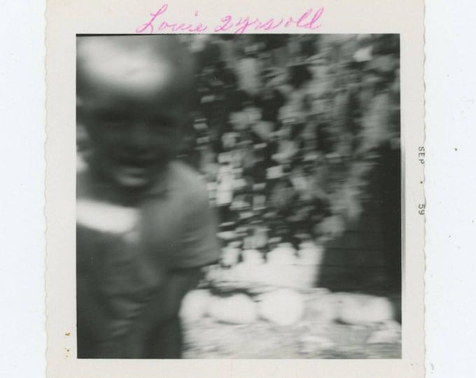 "Vintage Snapshot Photo: ""Louie, 2 Years Old"" 1959 [81639]"