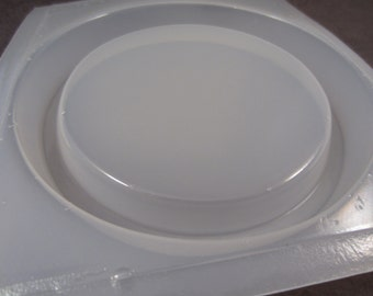 """Resin Mold SECONDS Round Base 3.5"""" 88mm Coaster Display Stand"""