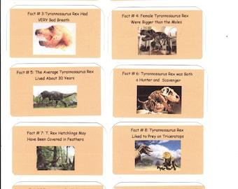 Altoids tin, collector cards, dinosaurs, T. Rex set
