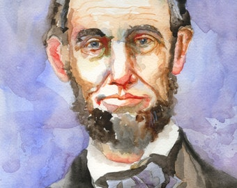 Abraham Lincoln Art Print of Original Acrylic Painting 11x14
