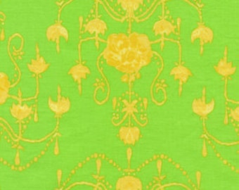 01377  Tina Givens Olivia's Holiday Garden Chandelier in green color- 1 /2  yard