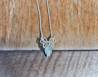 Prehnite Wire Necklace