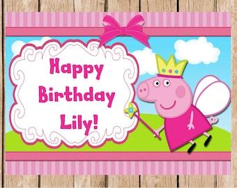 Peppa Pig Birthday Vinyl Banner