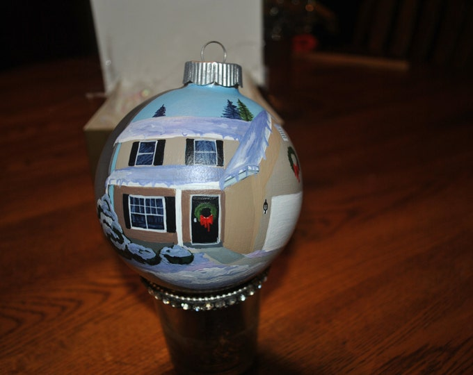 Custom  Hand Painted New Home Ornament  -- sold