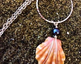 Unique Sunrise Shell Necklace