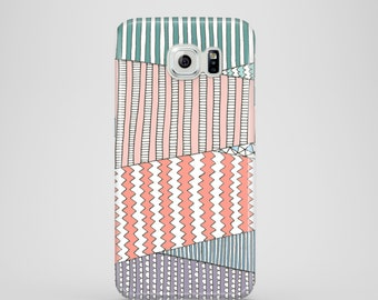 Pastel Fields phone case / nature illustration phone case Samsung Galaxy S7, Samsung Galaxy S6, Samsung Galaxy S6 Edge, Samsung Galaxy S5