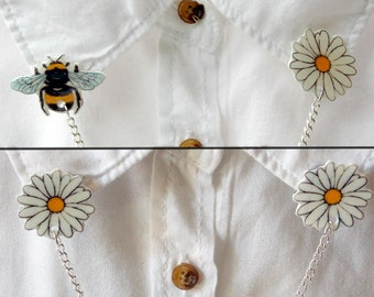 Bee and Daisy - Collar Clips - Sweater Clips