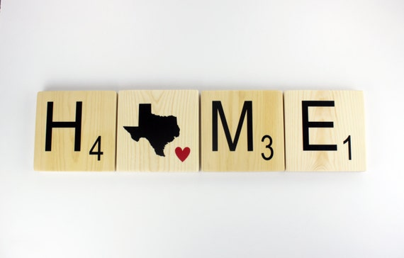 Home State Tiles Scrabble Wall Art Home State Sign Large