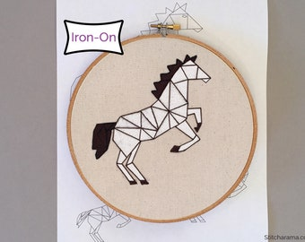 Horse Embroidery Pattern • Iron On Embroidery Pattern Transfer • Horse Hand Embroidery Pattern
