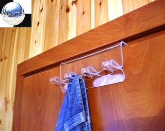 Modern Acrylic Rack Hanger with Four Hooks for Door.