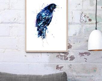 Australian Bowerbird Watercolour Art Print A3, A2 & A1 Giclee Archival Art Print