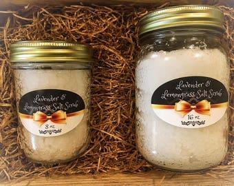 Lavender & Lemongrass Salt Scrub 16 oz