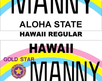 Personalized Hawaii Refrigerator Magnet State License Plate Replica