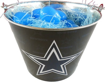 Dallas Cowboys Easter Basket NFL - with Eggs and Team Color Grass