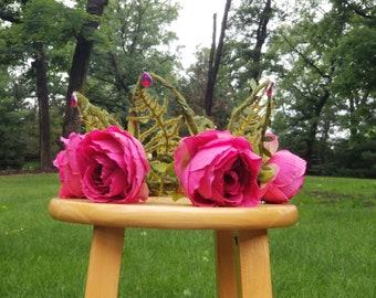 Pink Peony Flower Crown/Fairy Crown