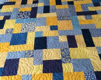Queen Size Quilt, Yellow Brick Road