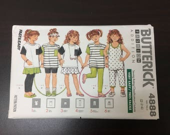 1990 Paper Pattern - USED - BUTTERICK 4888