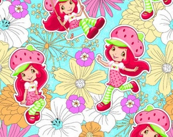 OOP HTF 18 inches StrawBerry ShortCake Fabric Petal Perfect in a Flower Garden Swing and Play