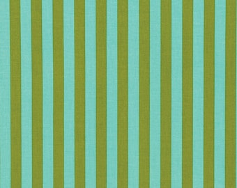 FREE SPIRIT Tabby Road PWTP069-CLEAR Skies Teal Tent Stripe by Tula Pink