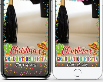 LIMITED TIME! Graduation cap Geofilter Fiesta Class of 2018 Snapchat filter Mexican snap Cinco De Mayo Gift grad College High school #WBs15