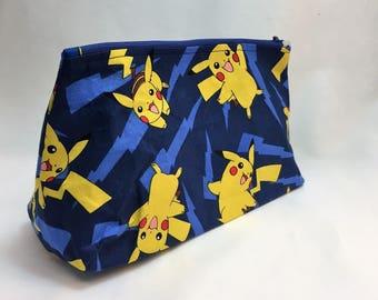 Large Zipper Pouch - Pikachu