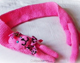 Pink Kawaii Kitty Cat Scarf