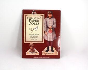 Vintage Samantha Parkington Paper Dolls book - Pleasant Company, American Girl, 1990s, 90s, unused, Pastimes, Beforever, Victorian clothes