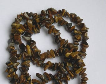 CHIPS BROWN TIGER EYE STONE BEADS
