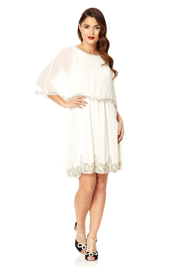 Plus Size Gloria Capelet Wedding Prom Dress 20s inspired