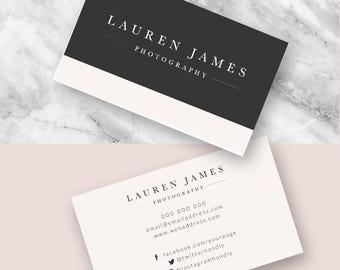 Modern calling card etsy business cards calling card marketing business elegant modern chic colourmoves
