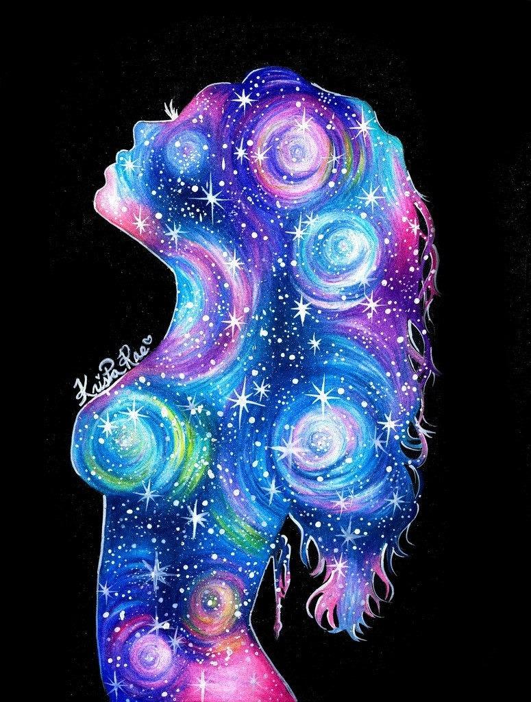 galaxy girl ii print