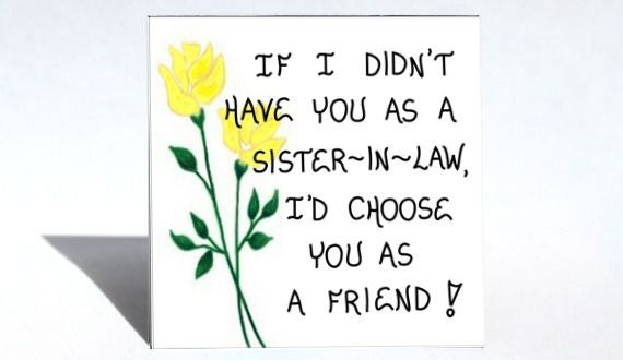 Sister-in-Law Gift Magnet Friendship Quote brothers wife
