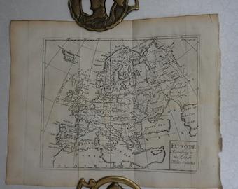 1733 John Senex Map of Europe