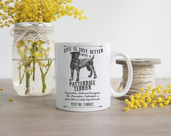 Patterdale Terrier Mug ~ Perfect Gift can be personalised