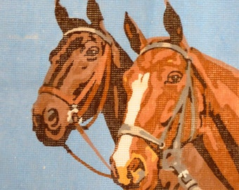 Semco Unworked Horse Tapestry Semco Horse Embroidery