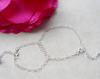 Sterling Heart Chain Bracelets for Mommy and Me B016
