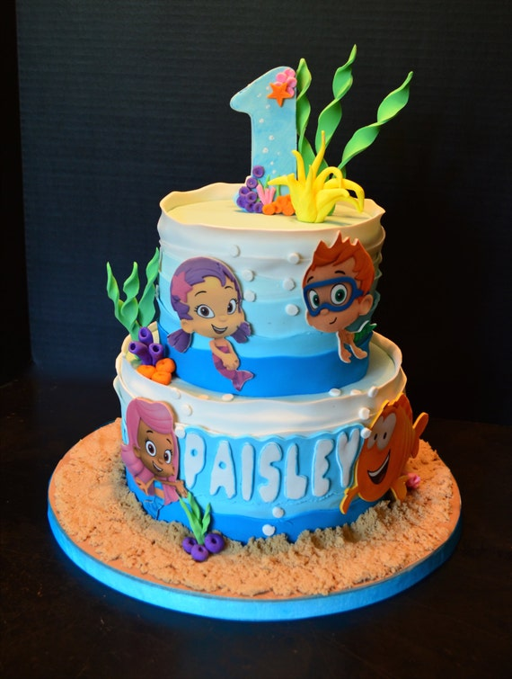 Bubble Guppies Cake And Cupcake Toppers
