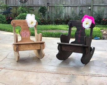 Child Rocking Chair - Personalized - Child Furniture