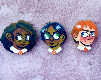 Harry Potter badges *hand painted*
