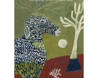 """Original painting """"Deer Geets Tree"""""""