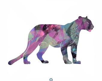 Cheetah Animal Totem Abstract Print