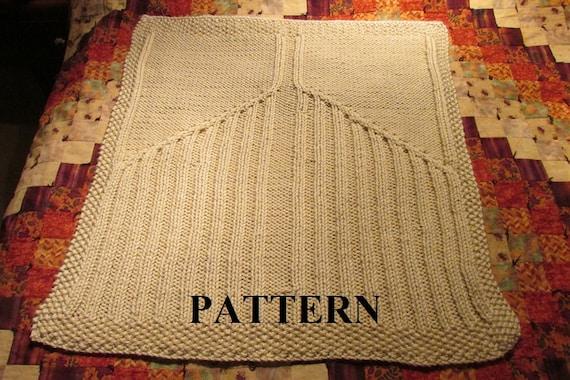 Knit Baby Blanket Pattern Knitting Pattern Cable Knit Aran Knit