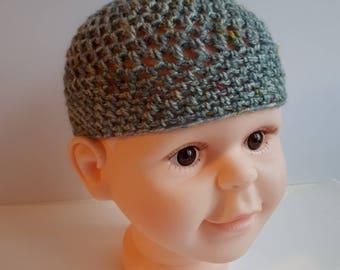 Baby Mesh Hat, boy hat, girl hat, summer Hat, vegan friendly. Hand made. Unique