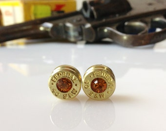 Topaz Bullet Earrings 40 Smith and Wesson