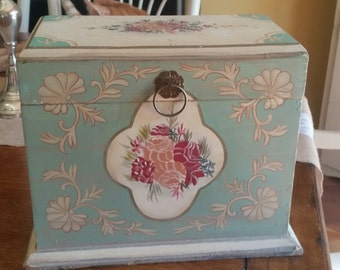 Cottage Style Hand Painted Trinket Box